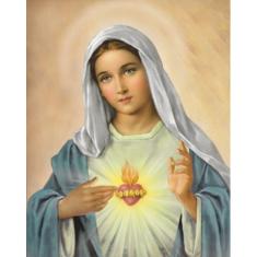 Obraz na dreve: Srdce Panny Márie (25x20)