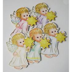 Anjel drevený s hviezdou