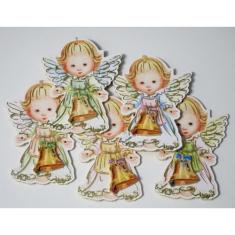 Anjel: drevený so zvončekom