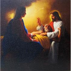Obraz na dreve: Zosnutie Jozefa (30x30)