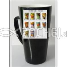 Hrnček: latte s termoobrázkom - s kresťanským citátom