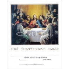Pamätný list: Pamiatka na 1. sväté prijímanie (maďarsky) - ELSŐ SZENTÁLDOZÁSI EMLÉK