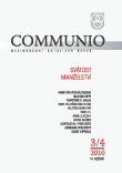 Communio 3-4/2010 - Svátost manželství - Mezinárodní katolická revue 14. ročník
