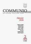 Communio 2/2010 - Přirozený zákon - Mezinárodní katolická revue 14. ročník