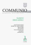 Communio 1/2011 - Tajemství Církve a Izraele - Mezinárodní katolická revue 15. ročník