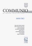 Communio 1/2012 - Maria dnes - Mezinárodní katolická revue 16. ročník - svazek 62