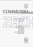 Communio 3/2013 - Moudrost - Mezinárodní katolická revue 17. ročník - svazek 68