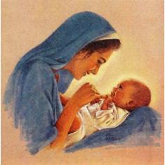 Obraz na dreve: Panna Mária - matka (15x15)