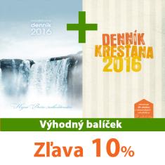 Balíček: Modlitbový denník 2016 + Denník kresťana 2016 - Sada za výhodnú cenu