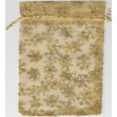 Vrecko: zlaté s vločkami (BOZ-0023)