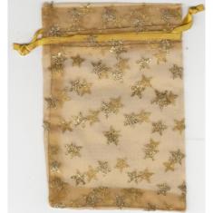 Vrecko: zlaté s hviezdičkami (BOZ-0019)