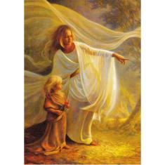 Obraz na dreve: Anjel a dieťa (30x20)