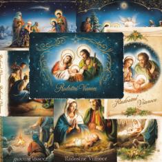 Pozdrav vianočný s textom - B6 (Via)