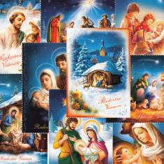 Pohľadnica vianočná s textom - séria 2 (Via)