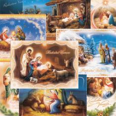 Pohľadnica vianočná s textom - séria 1 (Via)