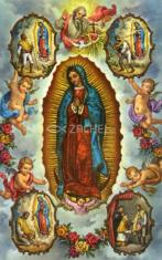 Obrázok: Panna Mária Guadalupská (14) - s modlitbou, laminovaný