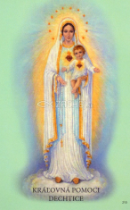 Obrázok: Kráľovná pomoci Dechtice (210/158) - Denné prosby k Matke Božej, laminovaný