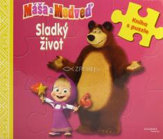 b3a4ac85c Máša a Medveď: Sladký život - Kniha s puzzle pre najmenších čitateľov!