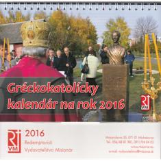 Gréckokatolícky kalendár 2016 stolový (Misionár)