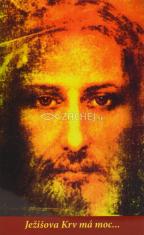 Obrázok: Ježišova krv (310/193) - s modlitbou, laminovaný