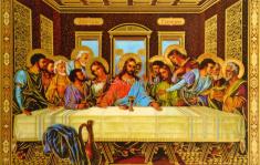 Obrázok: Posledná večera (307/198) - Prosba k Ježišovi, laminovaný