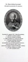 Záložka + litánie: Sv. František Saleský