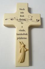 Kríž: drevený, s anjelom (N482/K/SK)