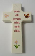 Kríž: drevený s textom (N478/K/W/SK)