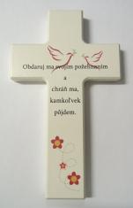 Kríž: drevený s textom (N479/W/SK)
