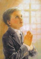 Obraz na dreve: Modliaci sa chlapec (15x10)
