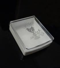 Krabička: na ruženec, plastová s kalichom (st.)