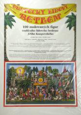 Oustecký lidový betlém - 100 malovaných figur