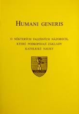 Humani generis - O některých falešných názorech, ktreé podkopávají základy Katolické nauky