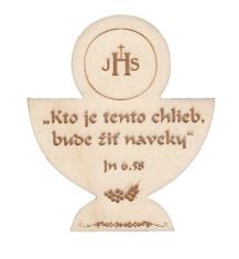 Citát na dreve: Kto je tento chlieb...