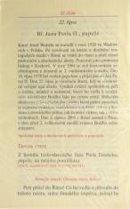Dodatky k Breviáři - Jan Pavel II. a Karel Rakouský - listy