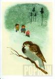 Přání - Zimní ptáček