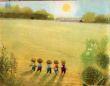 Přání - Zahrada, pět kluků