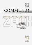 Communio 4/2013 - Ecclesiam Sanctam - Mezinárodní katolická revue 17. ročník - svazek 69