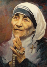 Obraz na dreve: Matka Tereza (15x10)