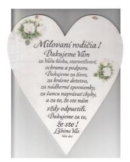 Drevené srdce: Milovaní rodičia!