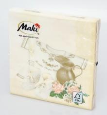 Servítky Maki (B) - krémové