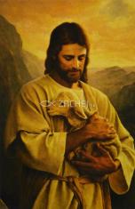 Obrázok: Dobrý Pastier (Z) - Modlitba pred a po svätom prijímaní, laminovaný