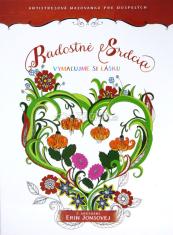 Radostné srdcia - antistresová omaľovanka pre dospelých - Vymaľujme si lásku