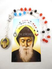 Sada: Obrázok a ruženec sv. Charbela - obrázok s modlitbou sv. Charbela