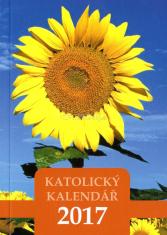 Kalendář 2017 (český) - katolický, kapesní - slunečnice - Kapesní kalendář s církevním a občanským kalendáriem, liturgickými barvami a liturgickým čtením