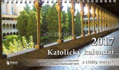 Kalendář 2017 (český) - katolický s citáty svatých - stolní kalendář s církevním a občanským kalendáriem
