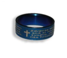Prsteň (837) - Zdravas... - modrý