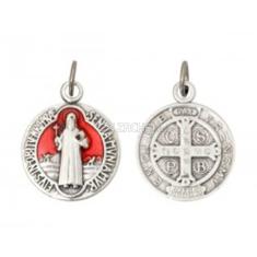 Medailón: Sv. Benedikt - červený (1686)