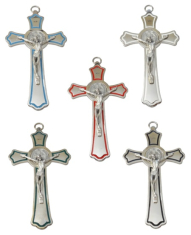 Kríž: kovový, Benediktínsky (MODEP)