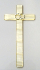 Kríž: s obrúčkami - Avorio (25756)